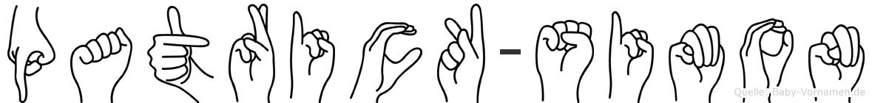 Patrick-Simon im Fingeralphabet der Deutschen Gebärdensprache