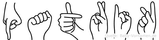 Patrik im Fingeralphabet der Deutschen Gebärdensprache
