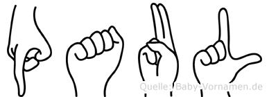 Paul in Fingersprache für Gehörlose