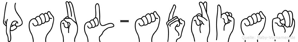 Paul-Adrian im Fingeralphabet der Deutschen Gebärdensprache