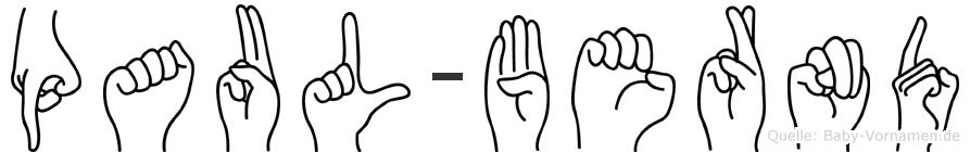 Paul-Bernd im Fingeralphabet der Deutschen Gebärdensprache