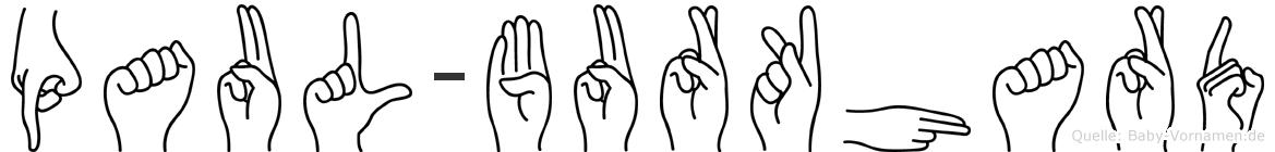 Paul-Burkhard im Fingeralphabet der Deutschen Gebärdensprache