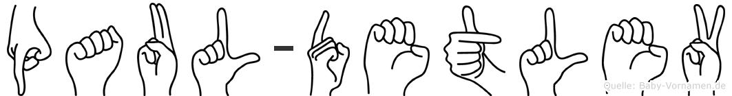 Paul-Detlev im Fingeralphabet der Deutschen Gebärdensprache