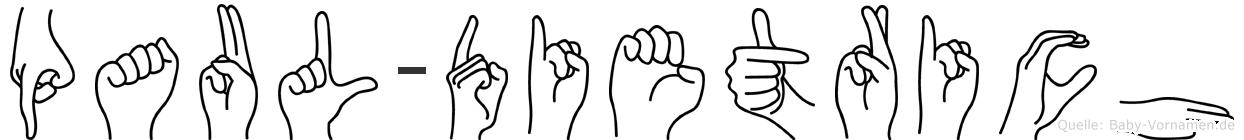 Paul-Dietrich im Fingeralphabet der Deutschen Gebärdensprache