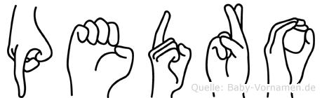 Pedro in Fingersprache für Gehörlose