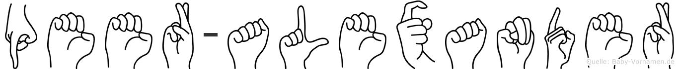 Peer-Alexander im Fingeralphabet der Deutschen Gebärdensprache