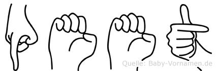 Peet in Fingersprache für Gehörlose