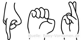 Per in Fingersprache für Gehörlose