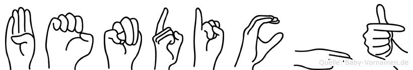 Bendicht im Fingeralphabet der Deutschen Gebärdensprache
