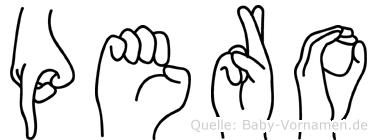 Pero in Fingersprache für Gehörlose