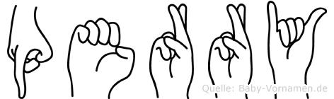 Perry im Fingeralphabet der Deutschen Gebärdensprache