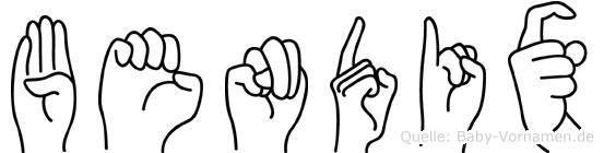 Bendix im Fingeralphabet der Deutschen Gebärdensprache