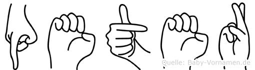 Peter in Fingersprache für Gehörlose