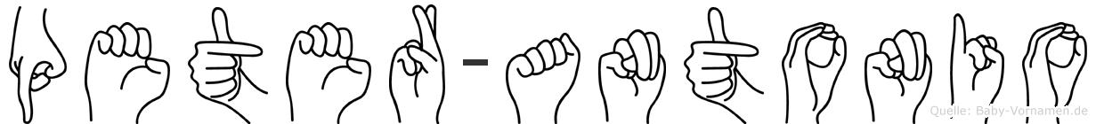 Peter-Antonio im Fingeralphabet der Deutschen Gebärdensprache