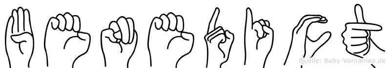 Benedict in Fingersprache für Gehörlose