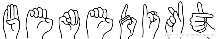 Benedikt in Fingersprache für Gehörlose