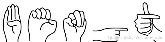 Bengt in Fingersprache für Gehörlose