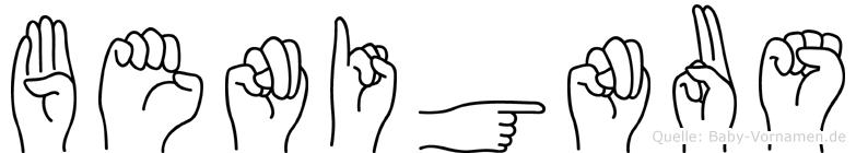 Benignus in Fingersprache für Gehörlose