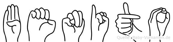 Benito im Fingeralphabet der Deutschen Gebärdensprache