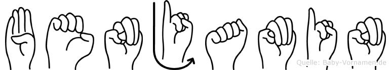 Benjamin in Fingersprache für Gehörlose