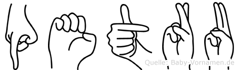 Petru in Fingersprache für Gehörlose