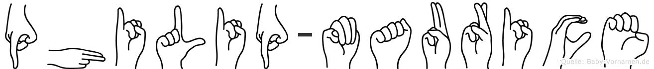 Philip-Maurice im Fingeralphabet der Deutschen Gebärdensprache