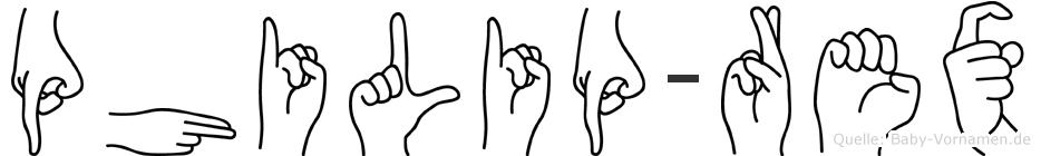 Philip-Rex im Fingeralphabet der Deutschen Gebärdensprache