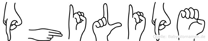 Philipe in Fingersprache für Gehörlose