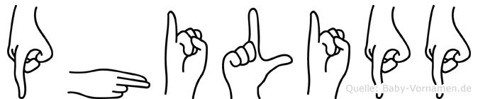 Philipp in Fingersprache für Gehörlose