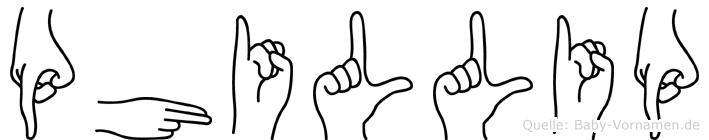 Phillip in Fingersprache für Gehörlose