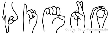 Piero in Fingersprache für Gehörlose