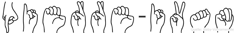 Pierre-Ivan im Fingeralphabet der Deutschen Gebärdensprache
