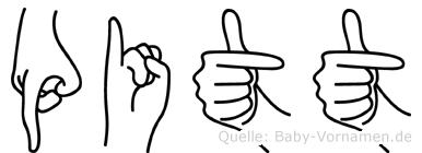 Pitt in Fingersprache für Gehörlose