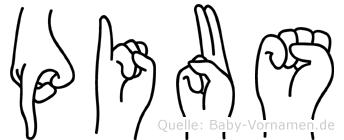 Pius in Fingersprache für Gehörlose
