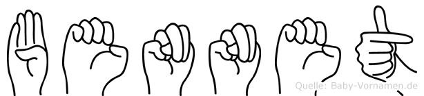 Bennet in Fingersprache für Gehörlose