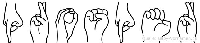 Prosper im Fingeralphabet der Deutschen Gebärdensprache