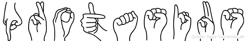 Protasius im Fingeralphabet der Deutschen Gebärdensprache