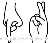 Pär in Fingersprache für Gehörlose