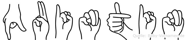 Quintin in Fingersprache für Gehörlose