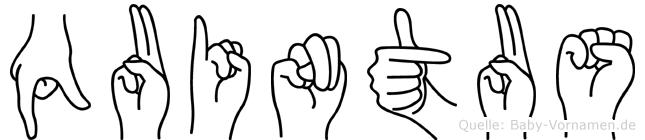 Quintus im Fingeralphabet der Deutschen Gebärdensprache