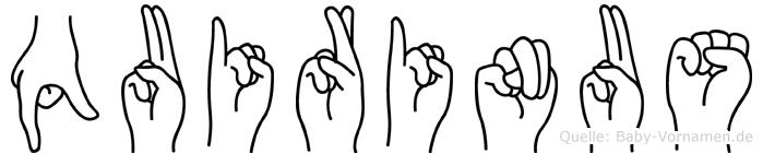 Quirinus in Fingersprache für Gehörlose