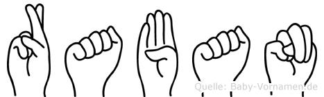 Raban im Fingeralphabet der Deutschen Gebärdensprache
