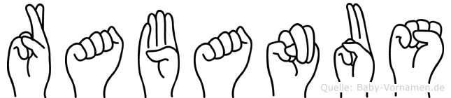 Rabanus in Fingersprache für Gehörlose