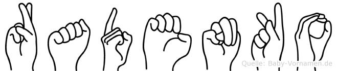 Radenko in Fingersprache für Gehörlose
