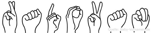 Radovan im Fingeralphabet der Deutschen Gebärdensprache