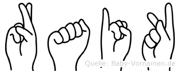 Raik in Fingersprache für Gehörlose