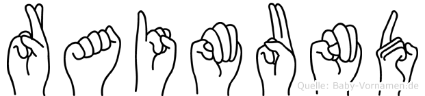 Raimund in Fingersprache für Gehörlose
