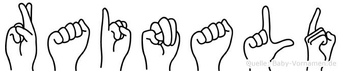 Rainald in Fingersprache für Gehörlose