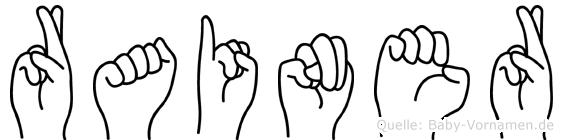 Rainer im Fingeralphabet der Deutschen Gebärdensprache