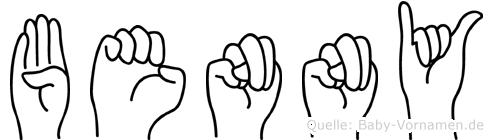 Benny im Fingeralphabet der Deutschen Gebärdensprache